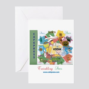 Twinkling Stars Design. Ts,cp. Card Greeting Cards