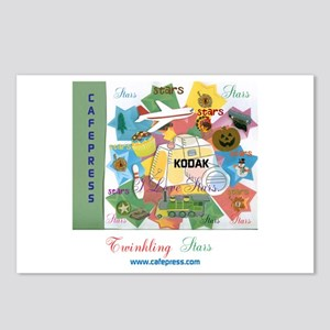Twinkling Stars Design. T Postcards (package Of 8)