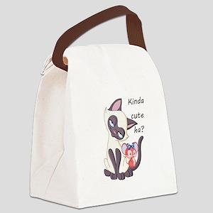 Smitten Siamese - Canvas Lunch Bag