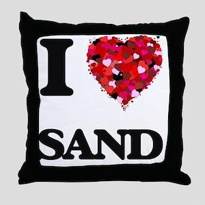 I Love Sand Throw Pillow