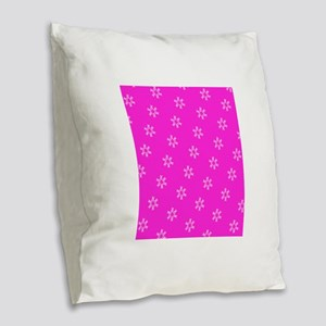 Pink Ribbon Breast Cancer Awar Burlap Throw Pillow