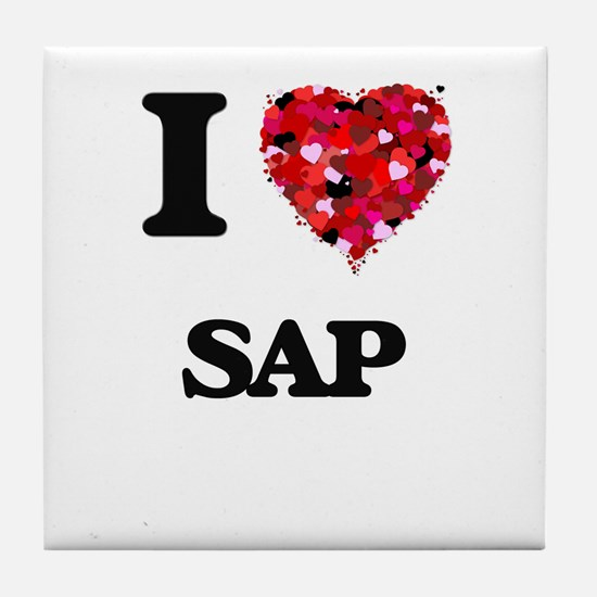 I Love Sap Tile Coaster