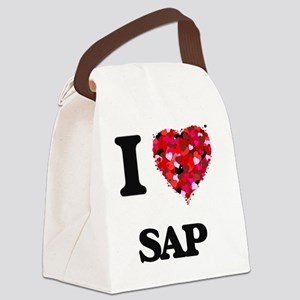 I Love Sap Canvas Lunch Bag