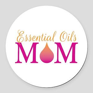 Essential oils Mom pkor Round Car Magnet