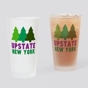 UPSTATE NEW YORK (PINE TREES) Drinking Glass