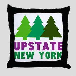 UPSTATE NEW YORK (PINE TREES) Throw Pillow