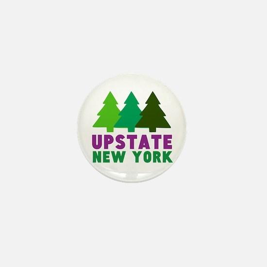 UPSTATE NEW YORK (PINE TREES) Mini Button