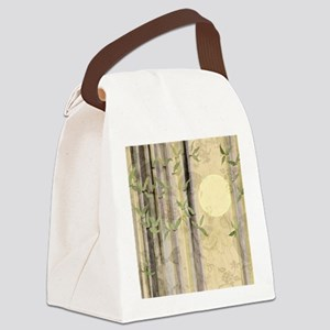 Bamboo Kimono Neutral Tones Canvas Lunch Bag