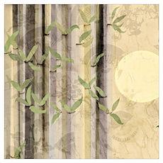 Bamboo Kimono Neutral Tones Poster