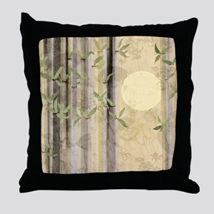 Bamboo Kimono Neutral Tones Throw Pillow
