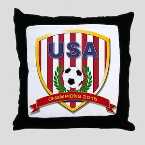 USA Soccer Women 2015 Throw Pillow