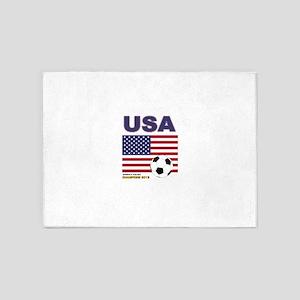 USA Soccer Womens Champions 2015 5'x7'Area Rug