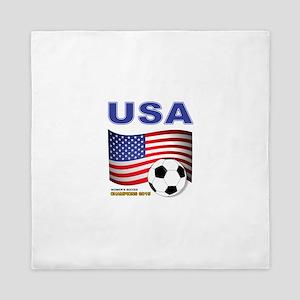 USA Soccer Womens Champions 2015 Queen Duvet