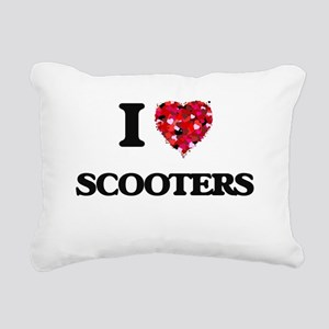 I Love Scooters Rectangular Canvas Pillow