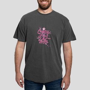 Crazy Frog Lady - Distressed Design T-Shirt