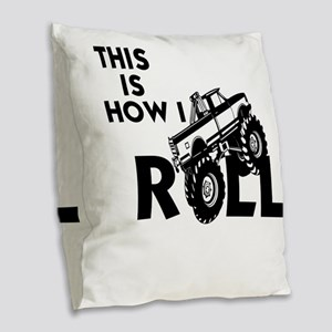 MUD BOG, MUD BOGGING - THIS IS Burlap Throw Pillow