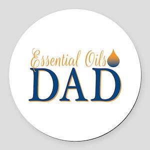 Essential oils dad Round Car Magnet