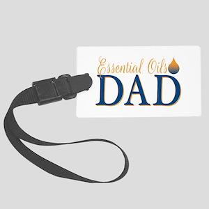 Essential oils dad Large Luggage Tag