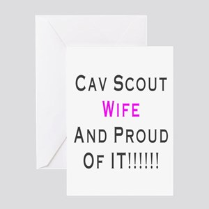 cav scout wife Greeting Card
