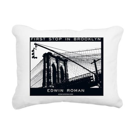 First Stop in Brooklyn Rectangular Canvas Pillow