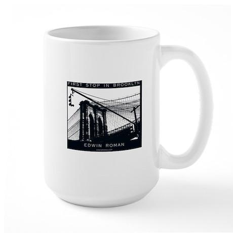First Stop in Brooklyn Large Mug