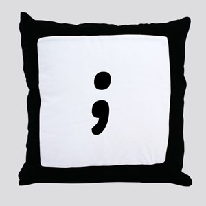 Semicolon Throw Pillow