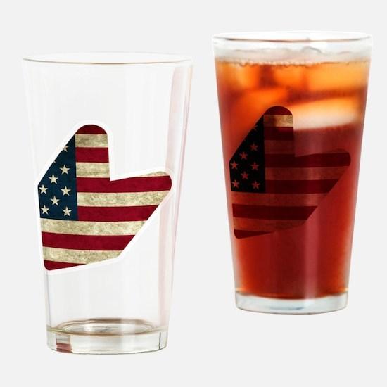 JDM LOGO AMERICAN FLAG Drinking Glass