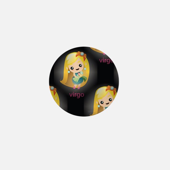 kawaii virgo Mini Button