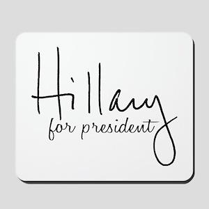 Hillary Signature President Mousepad