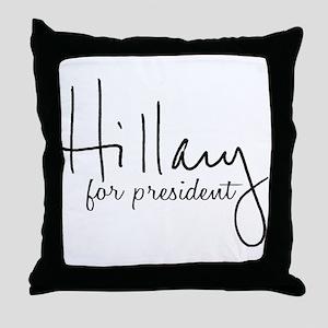 Hillary Signature President Throw Pillow