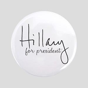 Hillary Signature President Button