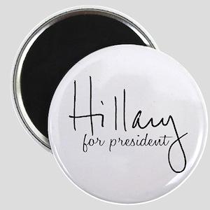 Hillary Signature President Magnet