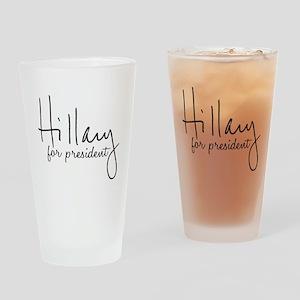 Hillary Signature President Drinking Glass