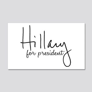 Hillary Signature President 20x12 Wall Decal