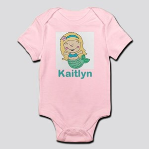 kaitlyn's mermaid personalized Infant Bodysuit