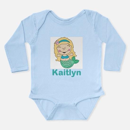 kaitlyn's mermaid pers Long Sleeve Infant Bodysuit