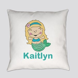 kaitlyn's mermaid personalized Everyday Pillow