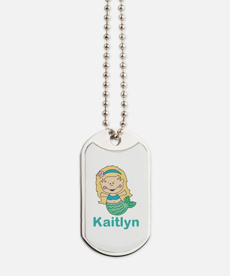 kaitlyn's mermaid personalized Dog Tags