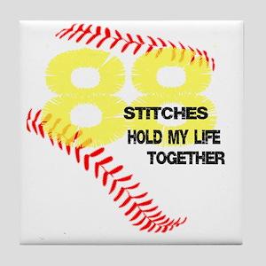 88 stitches Tile Coaster