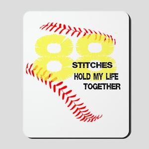 88 stitches Mousepad