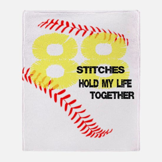 88 stitches Throw Blanket