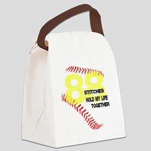 88 stitches Canvas Lunch Bag