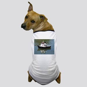 Model tugboat reflections in water Dog T-Shirt