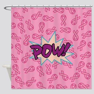 Breast Cancer Super Hero Shower Curtain