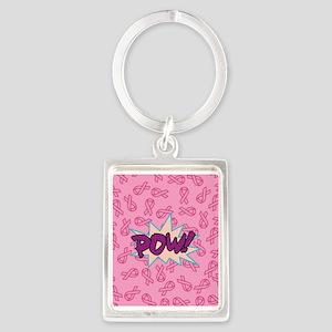 Breast Cancer Super Hero Keychains