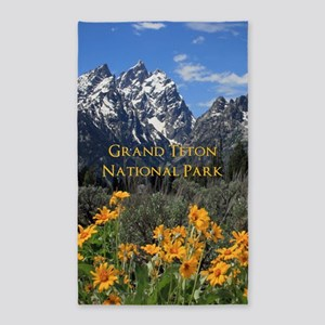 Grand Teton National Park Photo Souvenir Area Rug