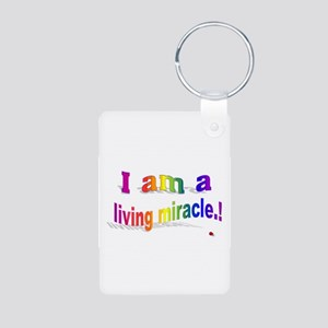 A Living Miracle Aluminum Photo Keychain