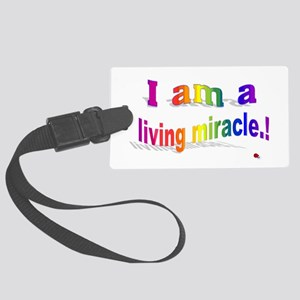 A Living Miracle Large Luggage Tag