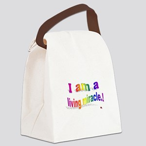 A Living Miracle Canvas Lunch Bag