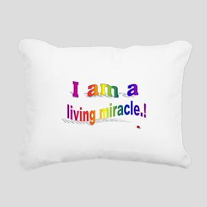A Living Miracle Rectangular Canvas Pillow